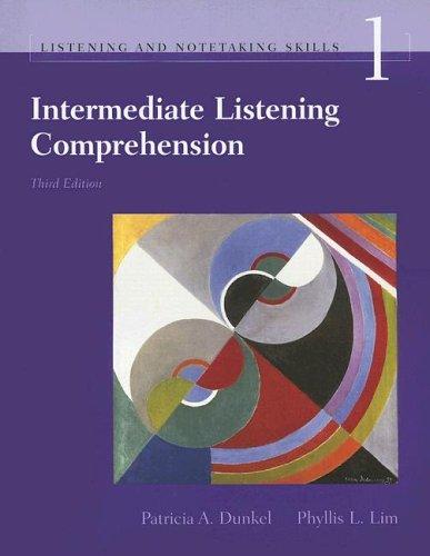9781413003970: Intermediate Listening Comprehension, Third Edition (Listening and Notetaking Skills Series, Book 1) (Listening and Notetaking Series)