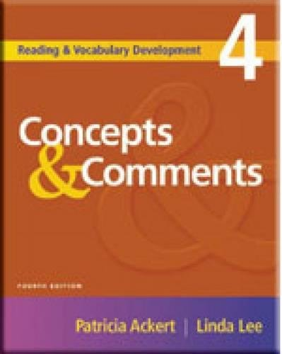 Concepts & Comments (Reading & Vocabulary Development): Ackert, Patricia; Lee,