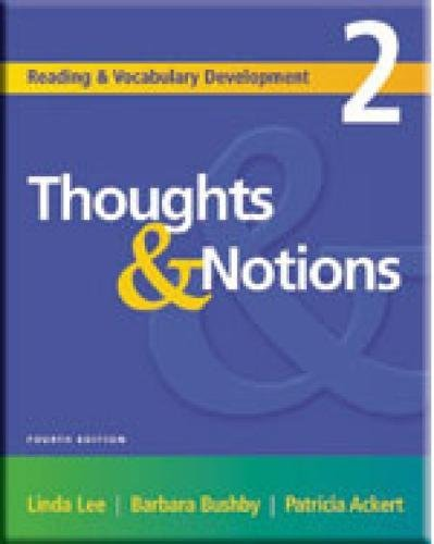 9781413004199: Thoughts & Notions, Second Edition (Reading & Vocabulary Development 2)