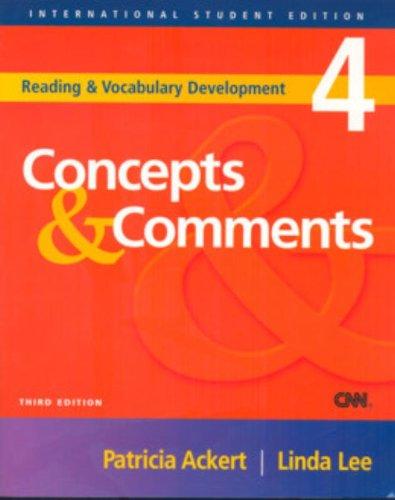 9781413004489: Concepts & Comments (Reading & Development, 4)
