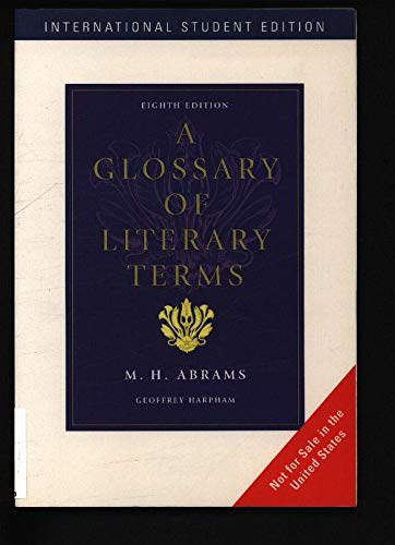 9781413004564: A Glossary of Literary Terms