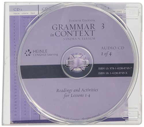 9781413007497: Audio CD for Grammar in Context Book 3