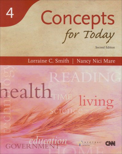 Concepts for Today, 2nd Edition (Reading for: Smith, Lorraine C.,