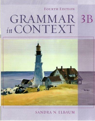 9781413008234: Book 3B for Grammar in Context