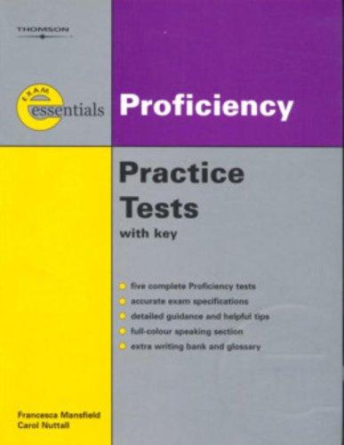 9781413009903: Exam Essentials: Proficiency Practice Tests: CPE (with Answer Key) (Thomson Exam Essentials)