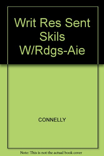 9781413010336: Writer's Resources: Sentence Skills with Readings AIE