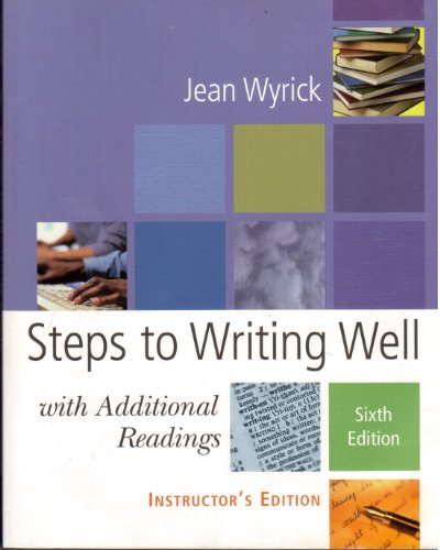 9781413010435: Steps to Writing Well: with Additional Readings 6e-IE