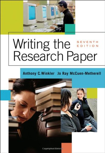 writing the research paper a handbook 8 edition Widely adopted by universities, colleges, and secondary schools, the mla handbook gives step-by-step advice on every aspect of writing research papers, from selecting a topic to submitting the completed paper for over half a century, the mla handbook is the guide millions of writers have relied on.