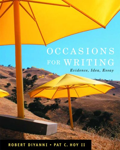 9781413012064: Occasions for Writing: Evidence, Idea, Essay