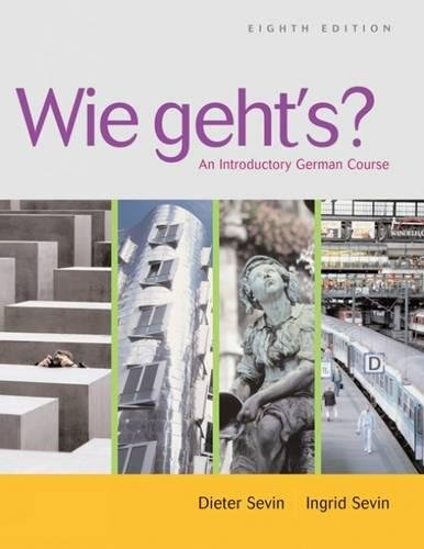 9781413012828: Wie geht's?: An Introductory German Course