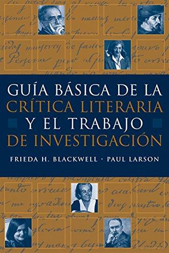 9781413014686: Guia básica de la critica literaria y el trabajo de investigacion (World Languages)