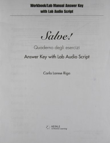 9781413015232: Answer Key (with Audio Script) for Riga's Salve!