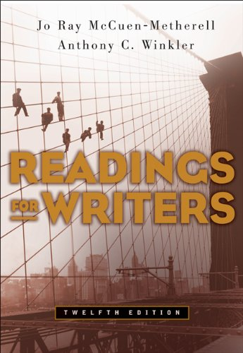 9781413016291: Readings for Writers