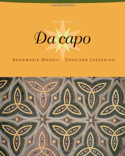 9781413016406: Da Capo: Student Text and Audio CD Package