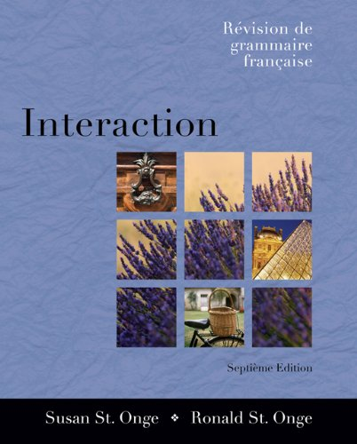 Interaction: Revision de grammaire française (with Audio CD) (Available Titles CengageNOW) (1413016472) by Ronald St. Onge; Susan St. Onge