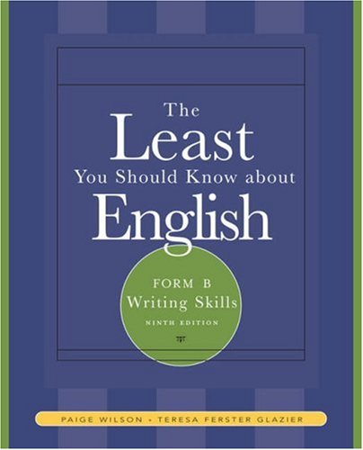 9781413017014: The Least You Should Know About English: Form B Writing Skills