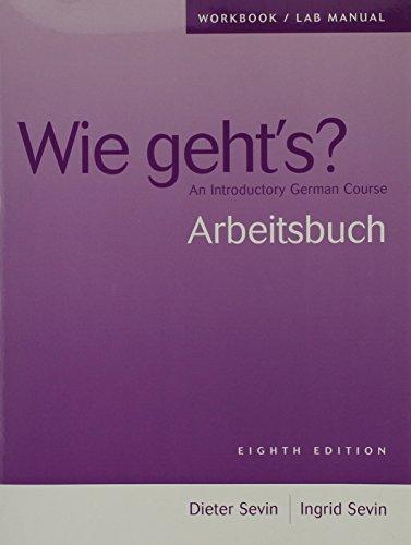 9781413017595: Wie Geht S 8e-Wkbk/Lab Manual