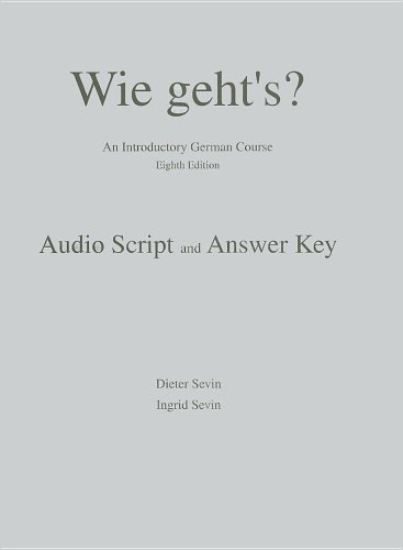 9781413017656: Audioscript (with Answer Key) for Wie geht's?: An Introductory German Course, 8th