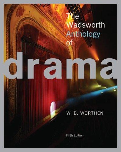 9781413017670: The Wadsworth Anthology of Drama