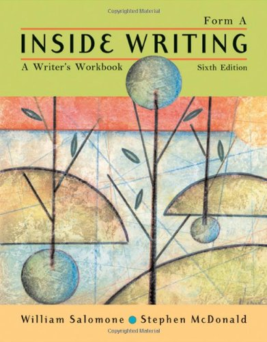 9781413017717: Inside Writing: A Writer's Workbook, Form A