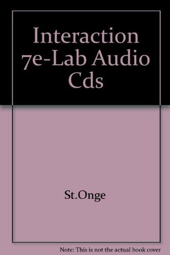 9781413018103: Lab Audio CDs for St. Onge/St. Onge's Interaction: Revision de grammaire française, 7th