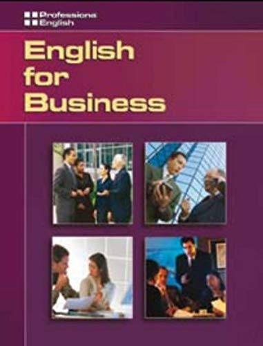 9781413020885: English for Business: Professional English - English for Business - Book and AudioCD Text and Audio CD Package (English for Professionals)