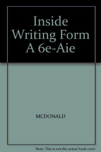 Inside Writing Form A 6e-Aie: MCDONALD; SALOMONE