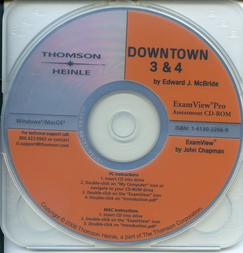 Downtown: Assessment CD-Rom with Examview Pro Level 3-4 (1413022669) by Edward McBride