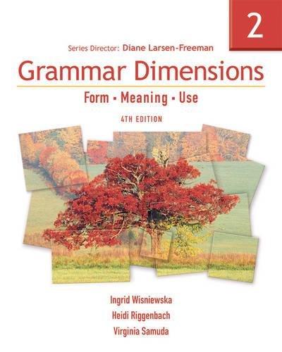 9781413027419: Grammar Dimensions 2: Form, Meaning, Use (Grammar Dimensions: Form, Meaning, Use)