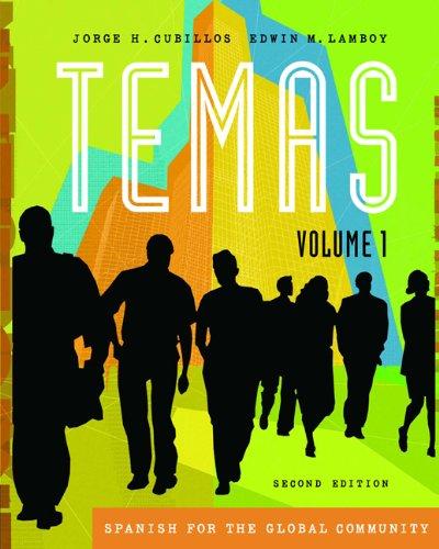 9781413028959: Temas: Spanish for the Global Community, Volume I (with Audio CD) (Temas (Thomson))