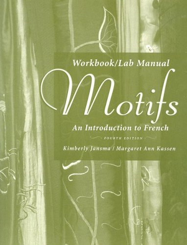 9781413030433: Workbook/Lab Manual for Motifs: An Introduction to French, 4th