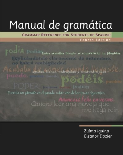 9781413032192: Manual de gramática: Grammar Reference for Students of Spanish (World Languages)
