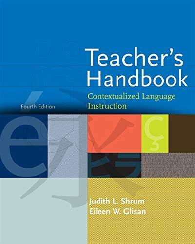 9781413033212: Teacher's Handbook: Contextualized Language Instruction