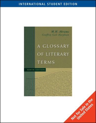 9781413033939: A Glossary of Literary Terms
