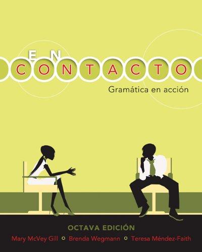 9781413048520: Bundle: En contacto: Gramática en accion (with Audio CD), 8th + Workbook/Lab Manual