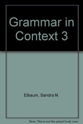 9781413073812: Grammar in Context 3