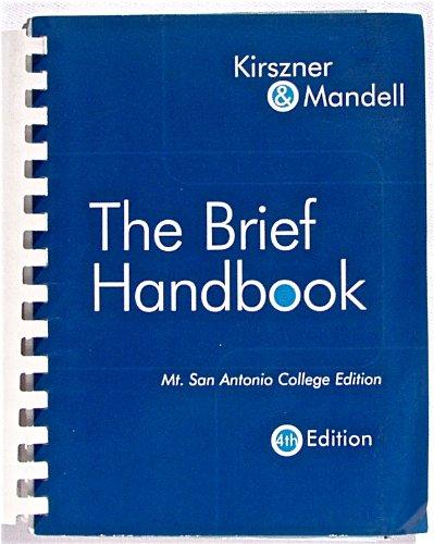 9781413098921: The Brief Handbook: Mt. San Antonio College Edition (4th)