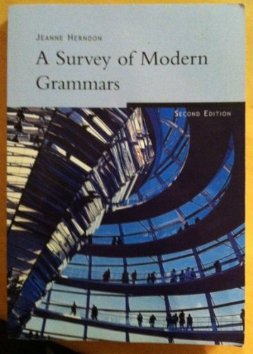 9781413098969: A Survey of Modern Grammars