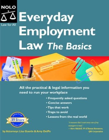 9781413300161: Everyday Employment Law: The Basics (Manager's Legal Handbook)