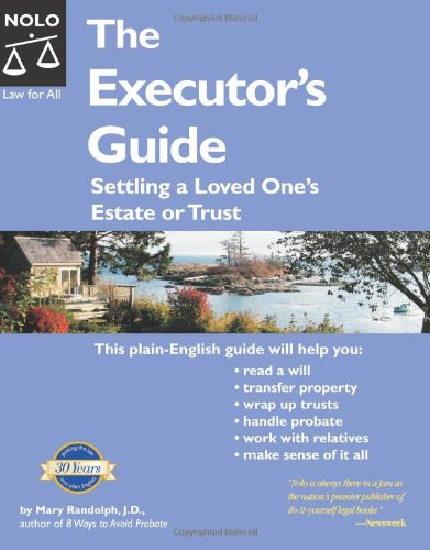 9781413300338: The Executor's Guide: Settling a Loved One's Estate or Trust