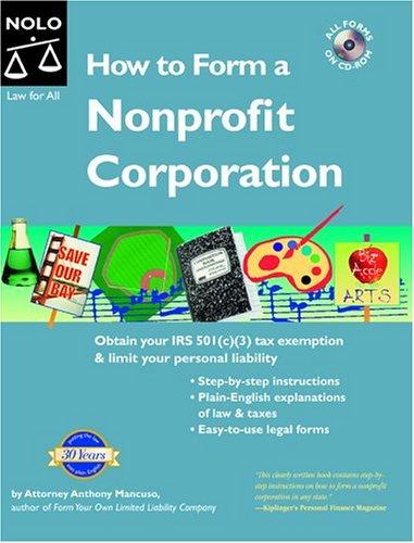 9781413300390: How to Form a Nonprofit Corporation, 6th (How to Form a Nonprofit Corporation (W/Disk))