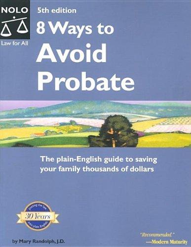 9781413300703: 8 Ways to Avoid Probate