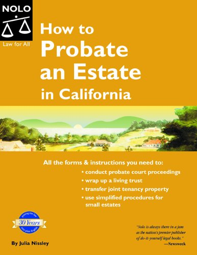 9781413301496: How to Probate an Estate in California