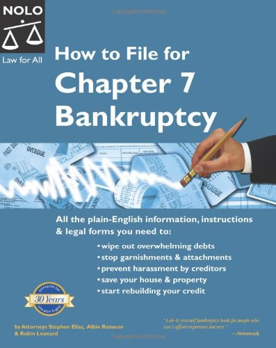 How to File for Chapter 7 Bankruptcy: Stephen Elias