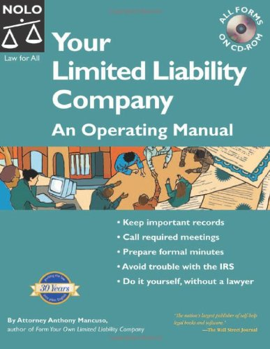 9781413301946: Your Limited Liability Company: An Operating Manual (Your Limited Liability Company (W/CD))