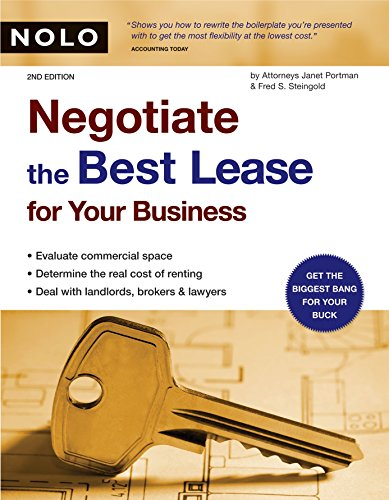 9781413302165: Negotiate the Best Lease for Your Business