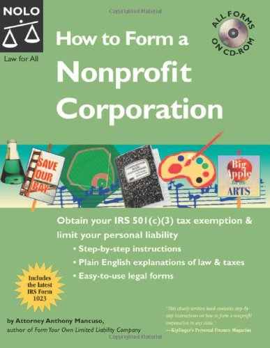 9781413303483: How To Form A Nonprofit Corporation 7th Edition