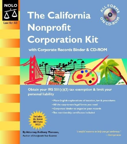 The California Nonprofit Corporation Kit: Anthony Mancuso