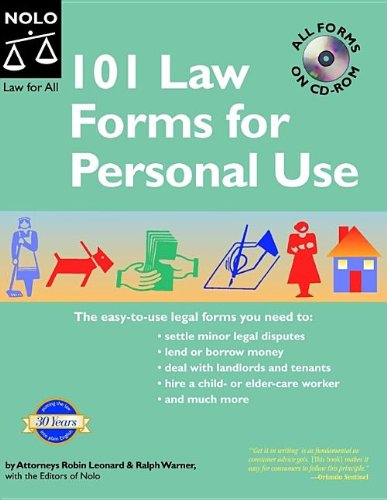 9781413303711: 101 Law Forms for Personal Use - Book with CD-Rom (5th Edition)