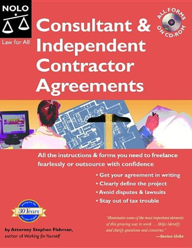 9781413303735: Consultant And Independent Contractor Agreements. Book with CD-Rom (5th Edition)